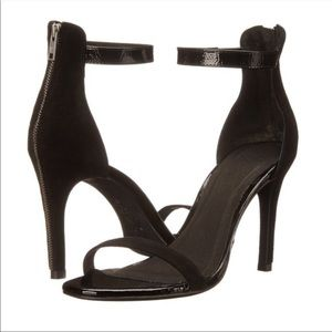Joie Shoes - Joie Abbott Zipper Suede Heals black